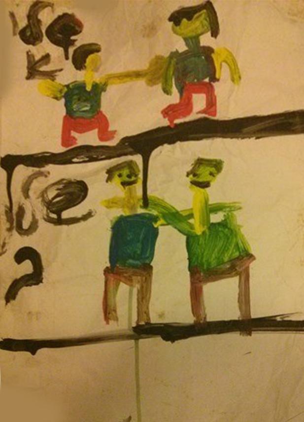 ילד כועס וילד משלים: הצבעים השתנו